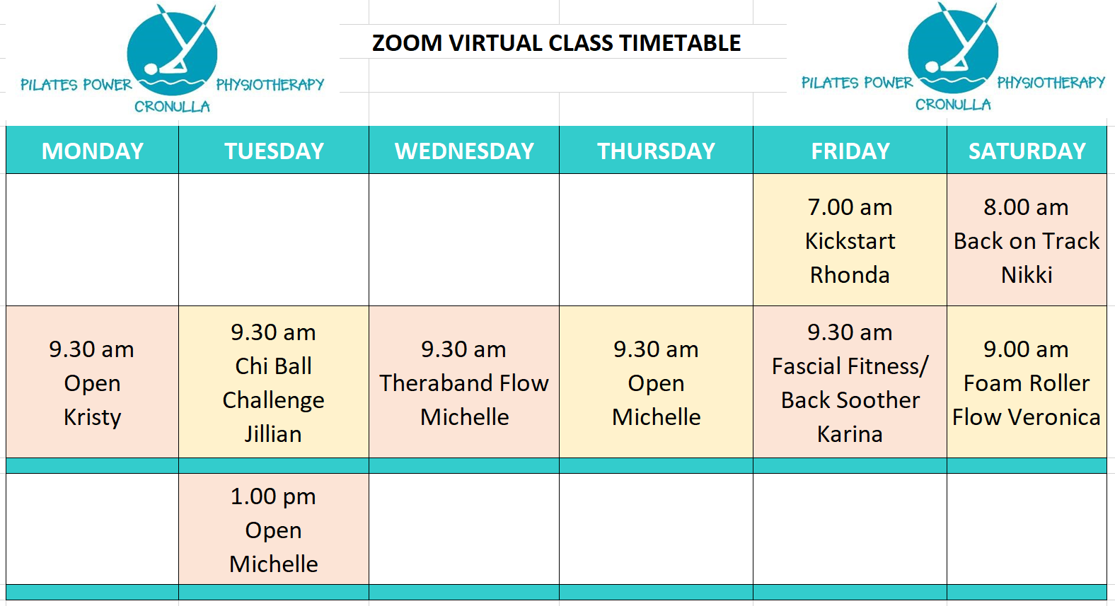ZOOM Classes as at 14-05-20