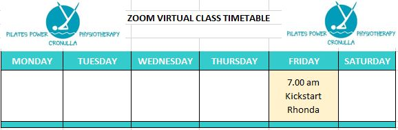 Zoom Timetable 23-6